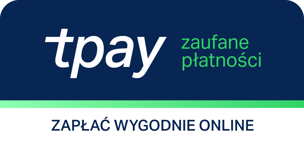 Obsługujemy płatności internetowe przez system płatności online Tpay